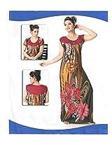 Indiatrendzs Women's Sexy Nighty Brown 2pc Set Bedroom Sleepwear Freesize