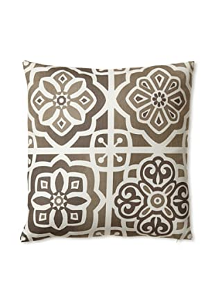Zalva Paros Natural Decorative Pillow, Mocha/Taupe, 16