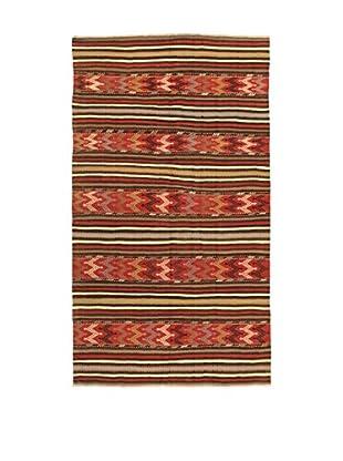 Design Community By Loomier Teppich Kilim Caucasico rot/mehrfarbig 160 x 278 cm