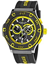 Stuhrling Prestige Men's 292P.335965 Prestige Swiss Made Harbinger Quartz Chronograph Date Yellow Watch