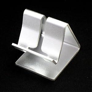 iPad / iPhone / iPod / スマートフォン 用 アルミニウム製 スタンド シルバー (付録はカラー Dock ケーブル)