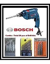Combo : BOSCH Impact Drill Machine GSB10 Professional-10mm+ 26 pcs DRILL bits