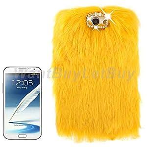 Luxury Fur Bling Rhinestone Hard Protective Case For Samsung Galaxy Note 2 N7100