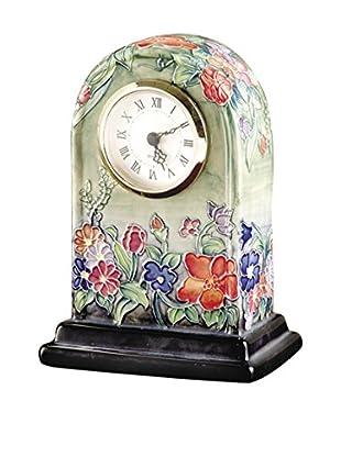 Dale Tiffany Flower Garden Clock, Green Multi