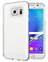 Galaxy S7 Edge Case - TUDIA Ultra Slim Full-Matte ARCH TPU Bumper Protective Case for Samsung Galaxy S7 Edge (Frosted Clear)