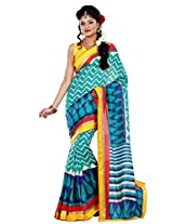 Riti Riwaz Multi Chapa Silk Printed saree with unstitched blouse RPS6204B
