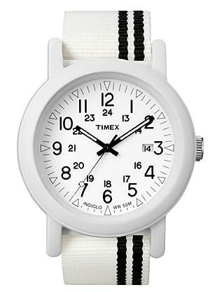 Timex T2N331. Reloj de Señora movimiento de cuarzo con correa téxtil Blanco