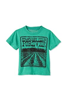 Lords of Liverpool Kid's Strawberry Fields Forever T-Shirt (Green)