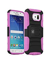 Galaxy S6 Case - KAYSCASE Heavy-Duty Belt Clip Dual-layer ArmorHolster Hybrid Cover Case for the Samsung Galaxy S6 Smart Phone 2015 Version (Lifetime Warranty) (Pink)