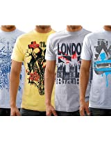 Funktees 100% Cotton M Size T-Shirts for Men - Pack of 4