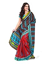 Vibes Cotton Patch Work Saree (S33-6003A _Multi-Coloured)