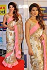 Indian Ethnic Designer Bollywood Party Wear Sarees Sari Traditional Women Wedding priyanka chopra beige saree