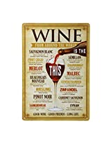 Imported 20x30cm Vintage Metal Tin Sign Plaque Wall Art Poster Cafe Bar Pub Wine #5