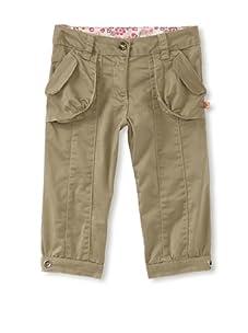 KANZ Girl's Flap Pocket Pants (Olive)