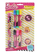 Mattel Barbie Stationery Set, Multi Color (11 Pieces)