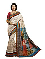 Beige Color Art Bahgalpur Silk Saree with Blouse 12536