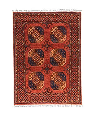 L'Eden del Tappeto Teppich Ersari rot/blau 202t x t147 cm