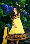 Appealing Zarine Khan Yellow Georgette Kalidar Anarkali Suit