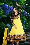 Appealing Zarine Khan Yellow Georgette Kalidar Anarkali Suit