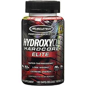 Muscletech Hydroxy Cut Hardcore Elite-Svetol Green Coffee Bean Extract Formula - 100 Count