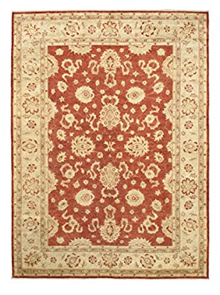 Hand-Knotted Chobi Finest Wool Rug, Beige/Orange, 9' 3