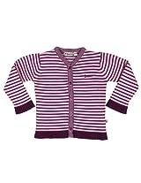 Buzzy Baby Girls' Cotton Front Open Sweater (SASKIA_Purple_6-9M)