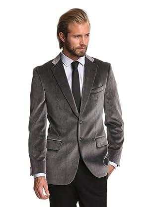 Joseph Abboud Men's 2-Button Velvet Sportcoat (Medium Grey)