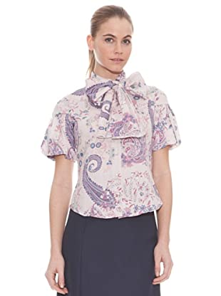 Vilagallo Camisa Preppy (Rosa / Lila)