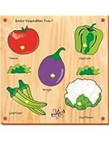 Kinder Creative-KCS-20-Junior Vegetables with Knobs(Multicolour)