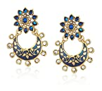 Ava Traditional Drop Earrings for Women (Blue) (E-VS-022B)
