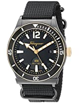 Salvatore Ferragamo Mens FF3200015 FERRAGAMO 1898 Sport Analog Display Quartz Black Watch