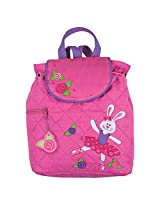 Stephen Joseph Girls Quilted Backpack Bag (Pink Bunny)