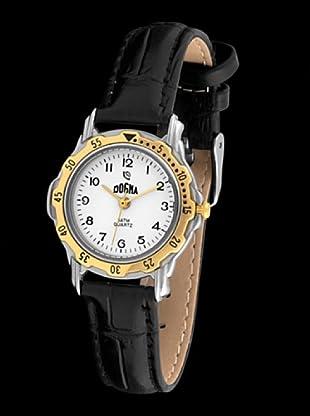 Dogma L1009 - Reloj de Señora movimiento de quarzo con correa de piel negro