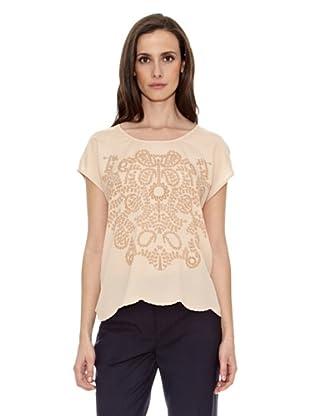 Cortefiel Camiseta Estampada Panau (Tostado)