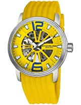 Stuhrling Original Men's 1078.3316G18 Classic Delphi Achilles Automatic Skeleton Yellow Watch