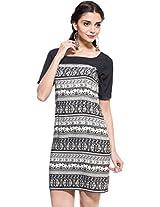 Zovi Black And White Printed Dress