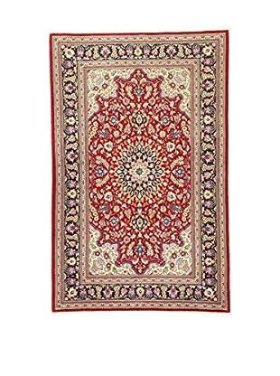 L'Eden del Tappeto Teppich Qom Sh rot/mehrfarbig 221t x t142 cm
