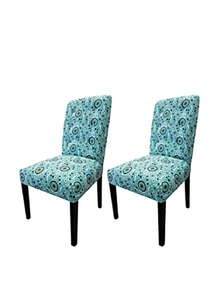 Sole Designs Set of 2 Kacey Suzani Dining Chairs