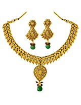 Surat Diamonds Traditional Gold Plated Copper Fine Designer Fashion Jewellery Set for Wedding / Engagement for Women (PS306)