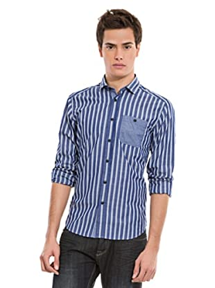 Springfield Hemd (Blau/Weiß)