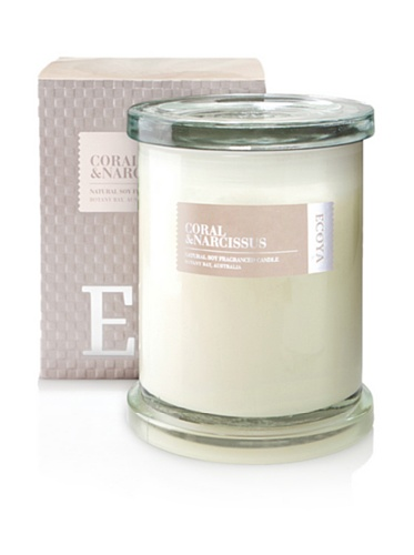 Ecoya Botanicals Metro Jar Scented Candle in Coral and Narcissus Fragrance