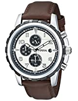 Fossil End of Season Dean Chronograph White Dial Men's Watch - FS4829