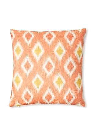 The Pillow Collection Faela Diamond Decorative Pillow (Melon)