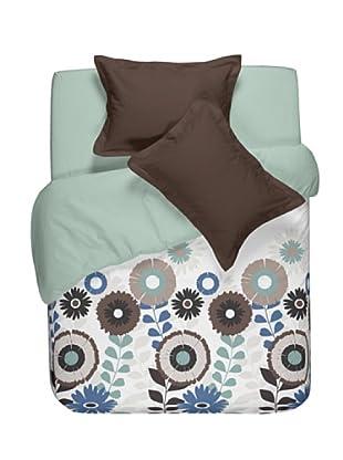 Casual Textil Funda Nórdica Flowery (Azul)