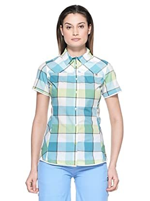 Salewa Camisa Henriette Dry W (Azul Cielo / Verde)