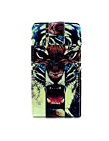 Bracevor Vertical Leather designer Case Flip Cover for for Samsung Galaxy A7 - Majestic Tiger