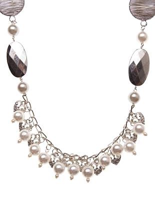 Sigris Collar Perlas Y Corazones (nácar)