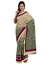 Parchayee Women's Synthetic Saree (94156F, Beige, Free Size)