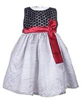 Faye - Sleeveless Black And White Striped Dress
