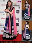 Alia Bhatt Navy Blue Bollywood Replica Lehenga Set at Filmfare Awards 2013
